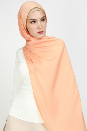 Aida Matte Satin Headscarf - Dusty Apricot