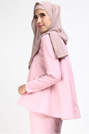 Ammy Flared Blouse - Pink