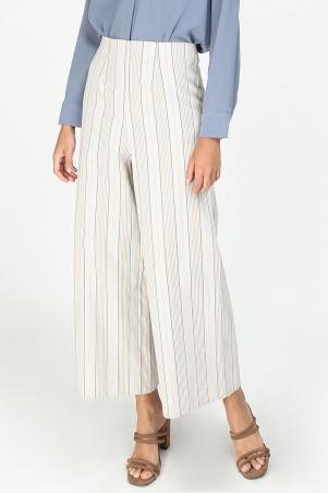 Garryanne Wide Legged Pants - Cream Multicolour Stripes