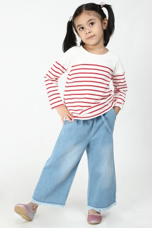 KIDS Sanda Palazzo Jeans - Light Blue