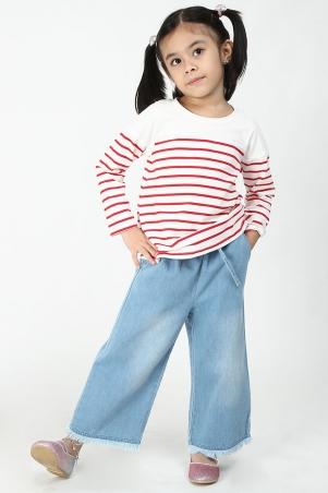 KIDS Sanda Palazzo Jeans - Light Blue