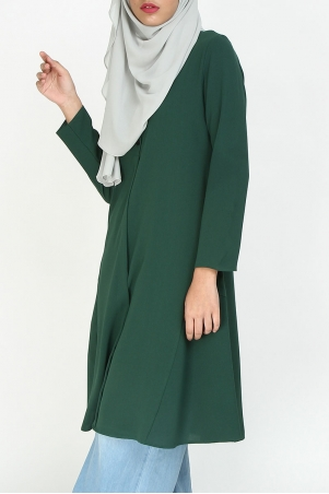 Malva Front Button Tunic - Posy Green