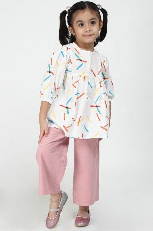 KIDS Zahara Wide Legged Pants - Pink