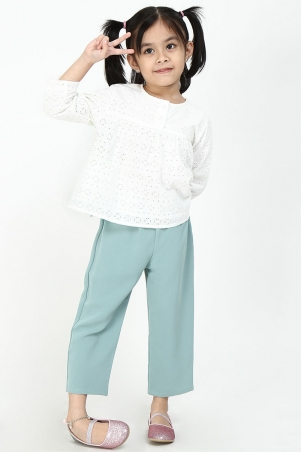 KIDS Zuhal Tapered Pants - Mineral Blue