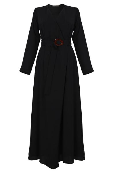 Peidah Belted Wrap Dress