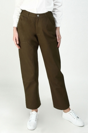 Jayeal Utility Jeans - Military Green