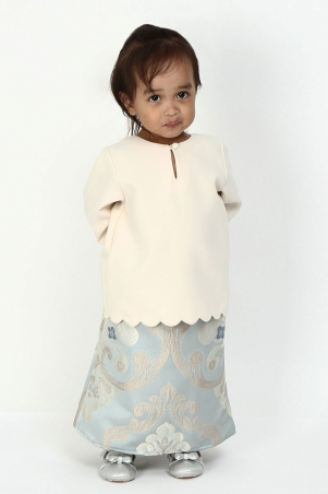 KIDS Alessia Set - Cream/Light Blue