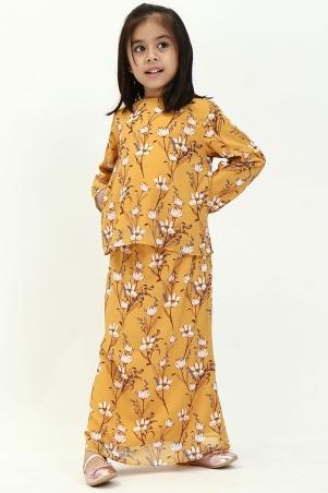 KIDS Juna Set - Mustard Floral