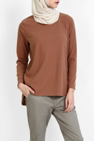 Remara Long Blouse 2.0 - Brown