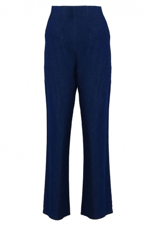 COTTON Sammia Wide Legged Pants - Dark Wash