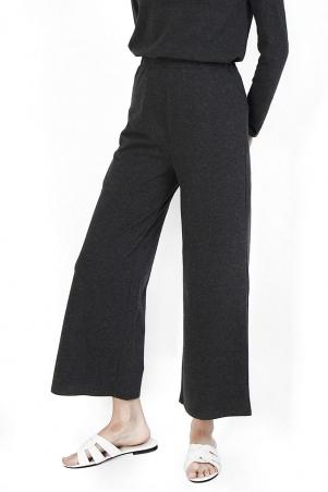Brighton Wide Legged Pants - Dark Heather Grey