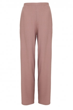 Shaliya Ribbed Straight Cut Pants