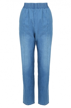 COTTON Romy Tapered Pants - Light Wash