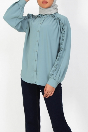 Andorra Front Button Blouse