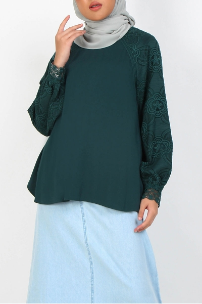 Ginevra Lace Sleeve Blouse