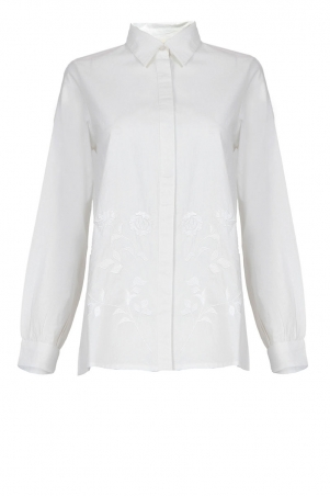 Cydelle Embroidered Front Button Shirt