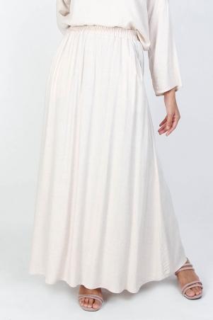 Janeva A-line Skirt - Light Heather Beige