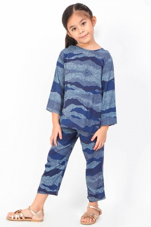 KIDS Irmina Set - Navy Print
