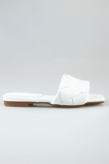 Oswin Woven Sandals - White
