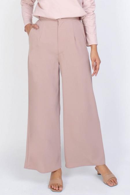 Nivitha Wide Legged Pants - Beige
