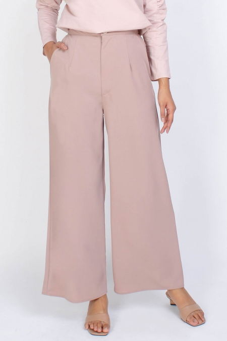 Nivitha Wide Legged Pants - Beige