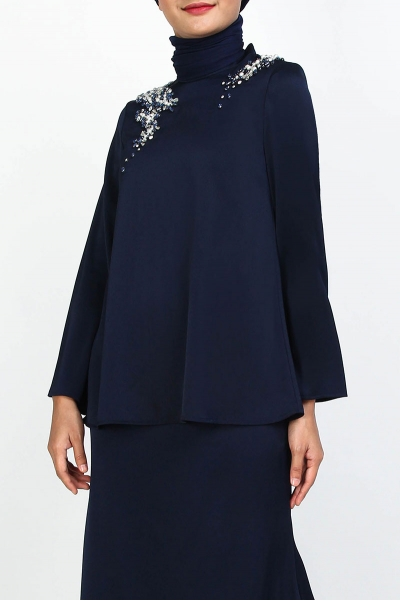 Loyalie Embellished High Neck Blouse