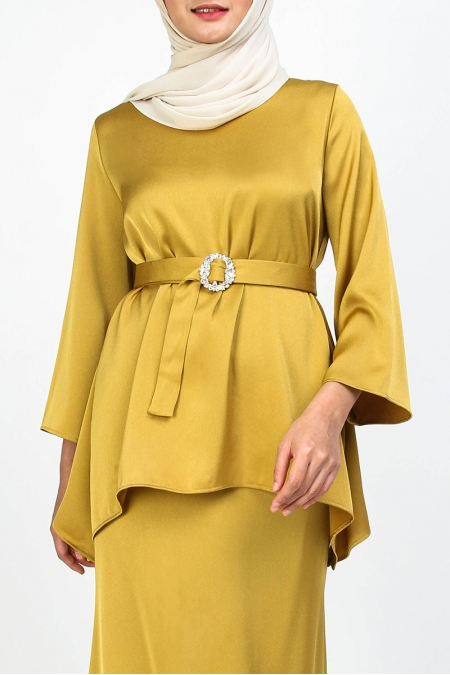 Mirrin Flared Blouse - Mustard