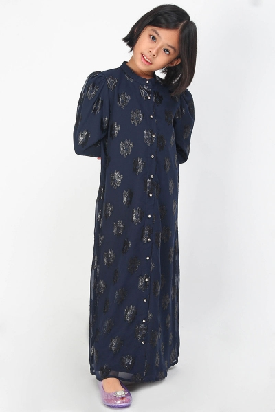 KIDS Lakisha Puff Shoulder Dress