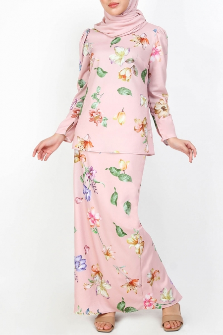 Tacyn Blouse & Skirt - Dusty Pink Floral